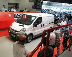 BCA van auction large