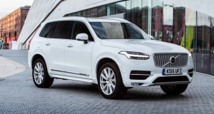 Front, static image of the all-new Volvo XC90 in Ice White