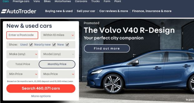 Online Car Sales >> Auto Trader Introduces Additional Site Function For New Car