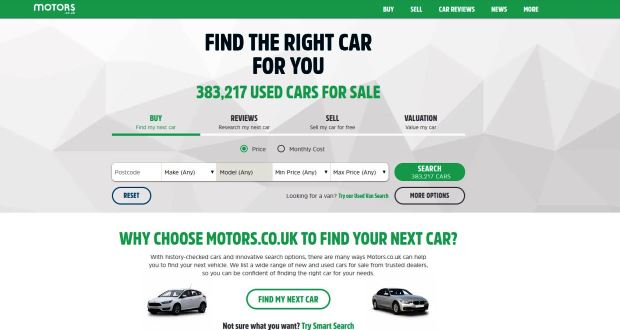 Cox Automotive To Sell Motors Co Uk To Ebay