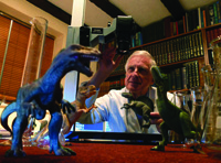 Brian J Ford used volumetric analysis of scale models and measurements from surviving skeletons to investigate the loadings on limbs of dinosaurs on land and in aquatic environments