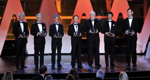 2016 Breakthrough winners onstage during the Prize Ceremony in Mountain View, California.  Credit: Steve Jennings/Getty Images for Breakthrough Prize