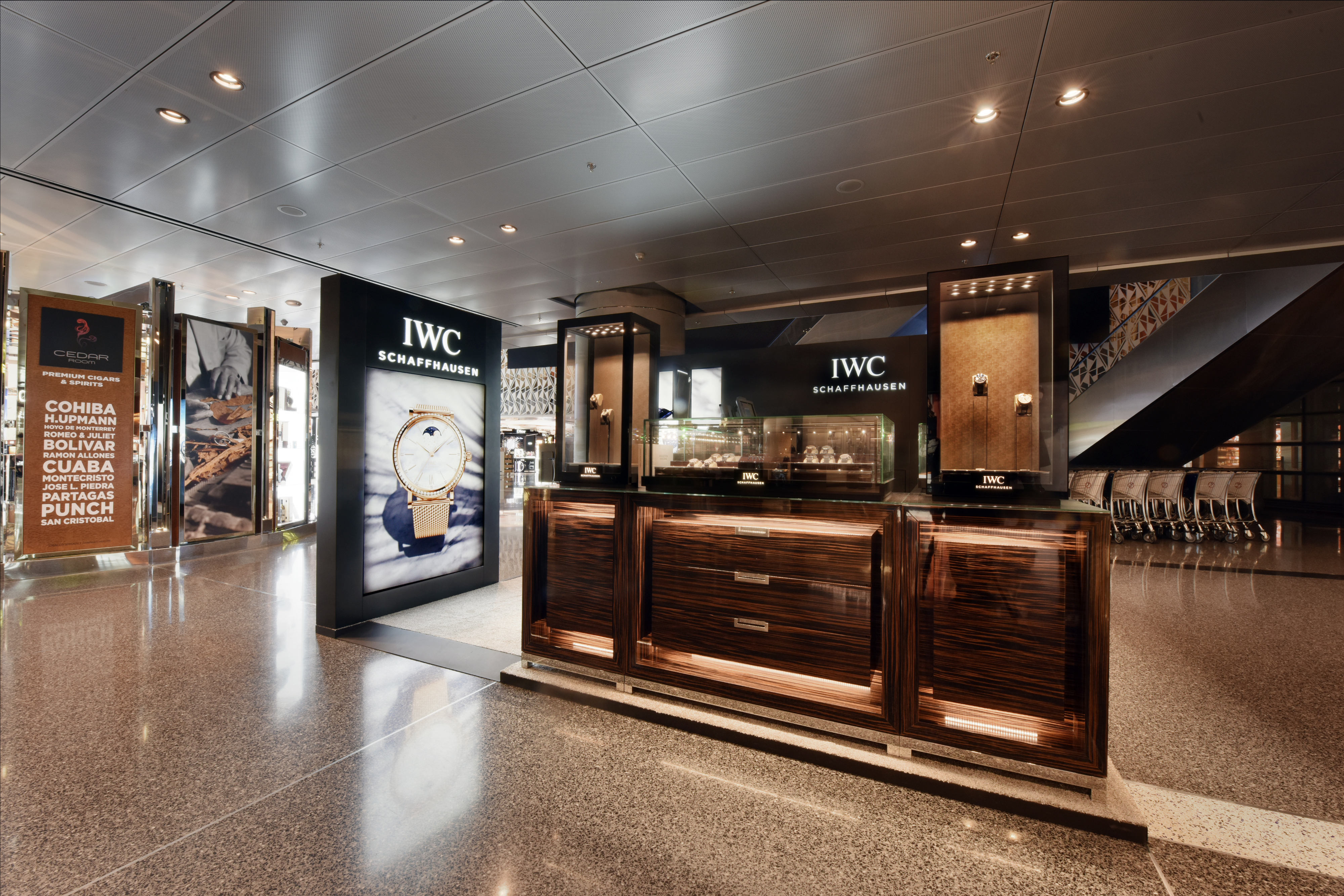 Qatar duty free opens first iwc pop up boutique for World boutique