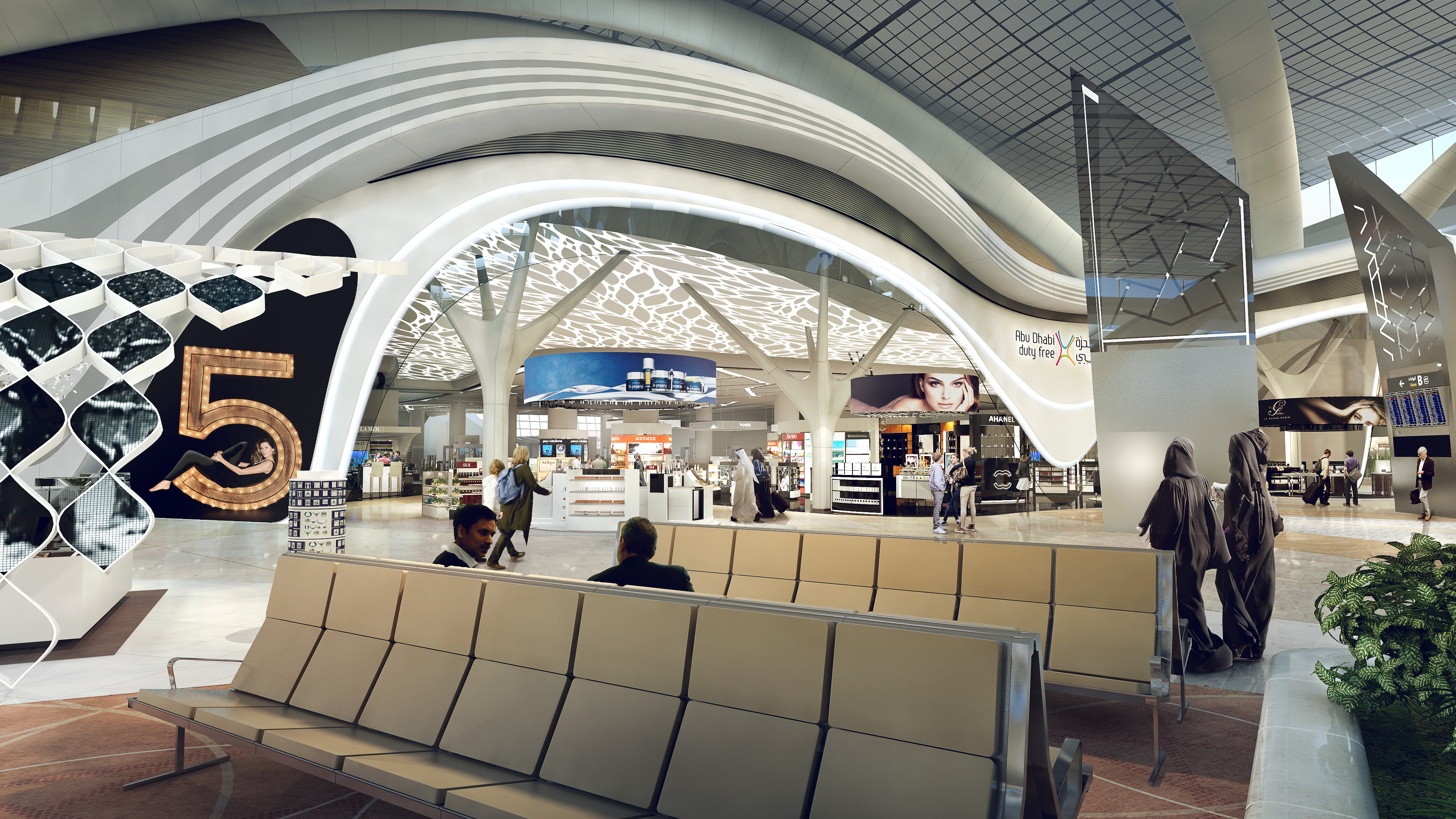 Adac awards midfield terminal duty free contracts for Hispano international decor abu dhabi