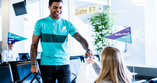 A First For Schiphol With Deliveroo Food Delivery At The Gate