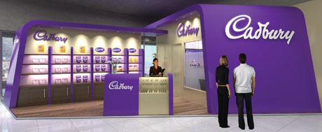 Photo of cadbury stand cannes